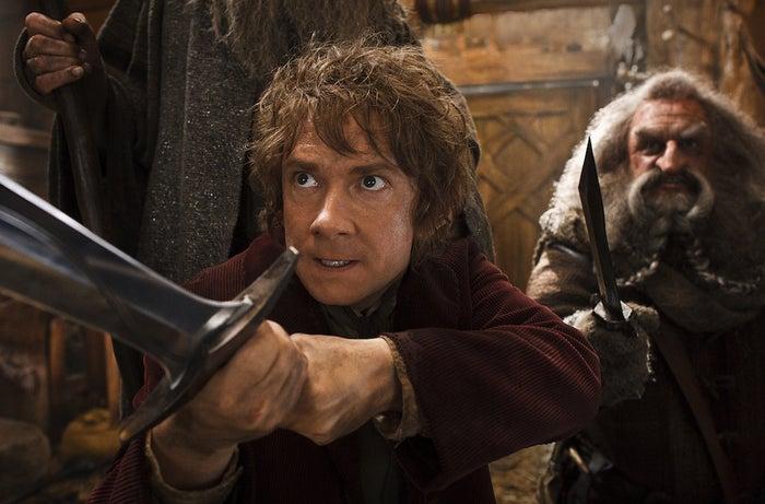 Martin Freeman and John Callen in The Hobbit: The Desolation of Smaug.