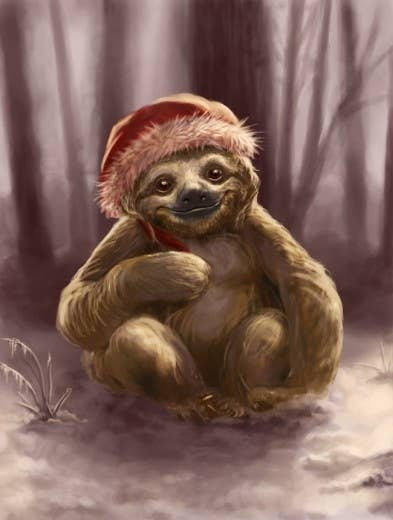 Created by Valerie Black, this Santa Sloth is the epitome of tranquility in a winter wonderland, which, she even admits, is not the typical climate they live in. Whatever. Awesome picture is awesome regardless.