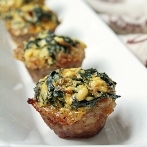 Swiss Chard and Ricotta Pie with Sausage Crust