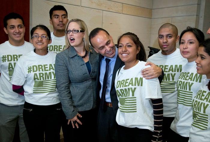 Congresswoman Kyrsten Sinema, Congressman Luis Gutierrez, and dreamers.