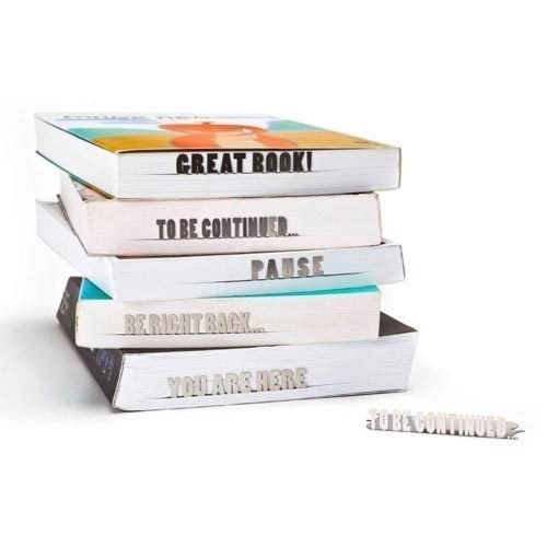 """Marcadores de livro que """"falam"""""""