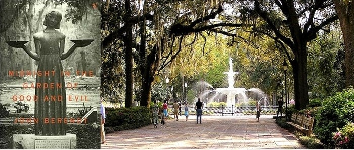 """John Berendt's nonfiction piece about a crime in the very southern town of Savannah Georgia depicts the haunted streets and bizarre inhabitants beautifully. This book will have you booking your ticket to Georgia. The cover photo is from the Bonaventure cemetery in Savannah known as the """"Bird Girl""""."""
