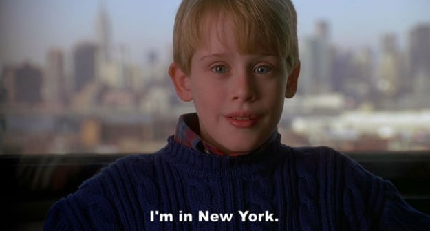 Do I even need to explain further? It's NYC. Kevin arrives in New York City, a place where he knows no one, and shows no fear! I remember the day I moved to New York City. I was terrified (I still kinda am) but not Kevin! He raised his eye brows, grabbed his Polaroid camera, and headed out to the concrete jungle and visited more places in that 2-minute montage than I have visited in 3 years of living here. He must have had an unlimited Metrocard.