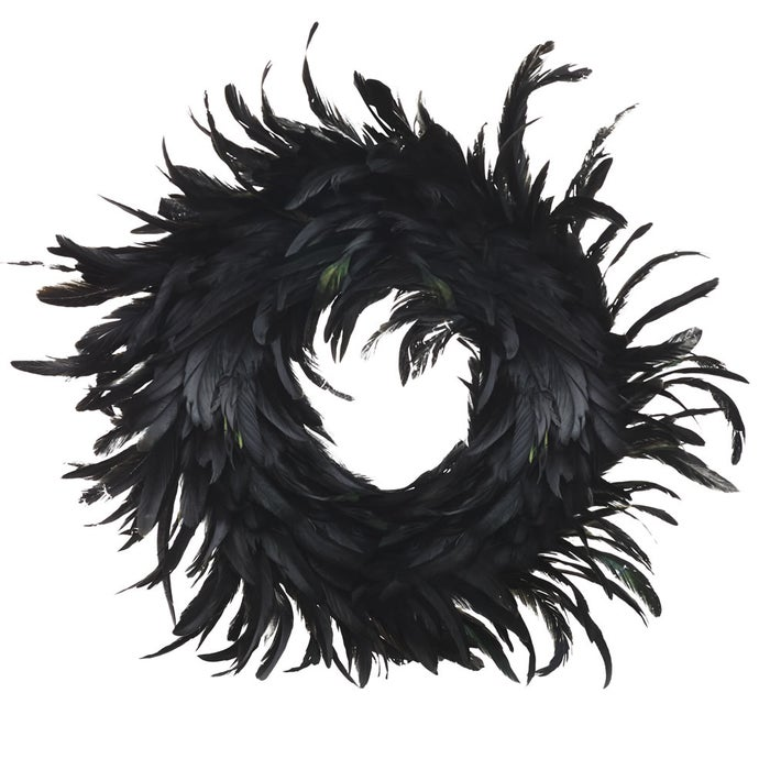 You could of course make your own Gothic wreath, with Halloween decorations mixed in with Christmas greenery. But if you're not so crafty, how about this amazing black feather wreath from Wilko?