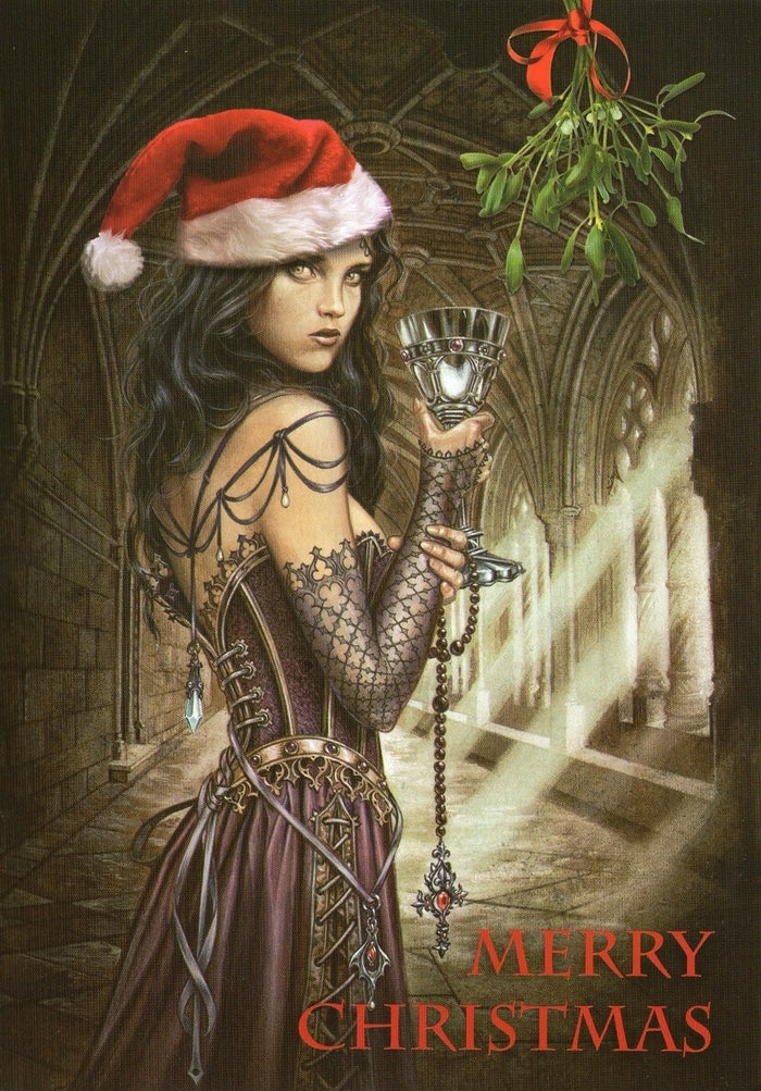 Have an appropriately Gothic Christmas Card to go with the paper! How about this beautiful Anne Stokes one?