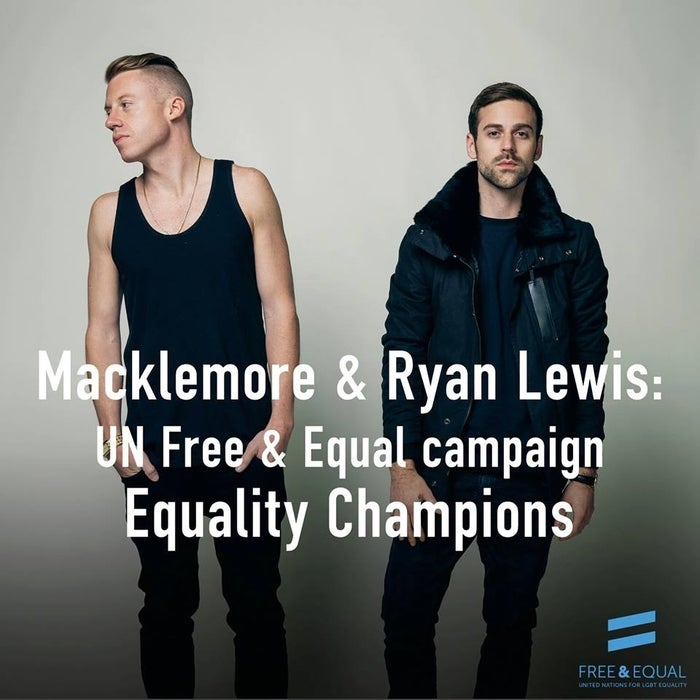 Macklemore & Ryan Lewis released the most inspiring song of 2013 – admit it, you cried a little when you read this story and watched the video. But their awesomeness didn't end there. In November, Macklemore & Ryan Lewis decided to take their LGBT equality message global with the UN's Free & Equal campaign.