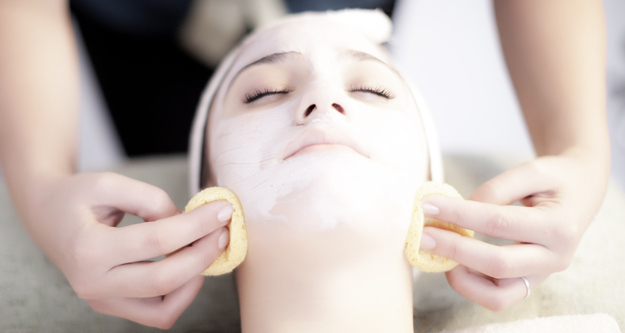 Choosing physical exfoliation instead of chemical exfoliation.