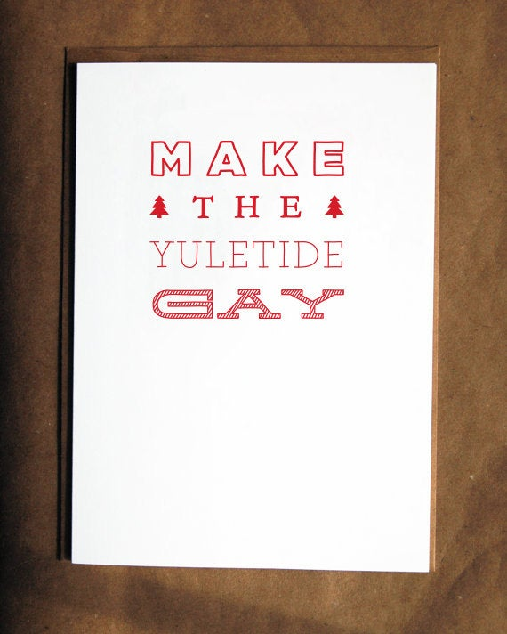 Let that special someone on your list know the holidays just couldn't be the same without them with this card. Via Etsy.