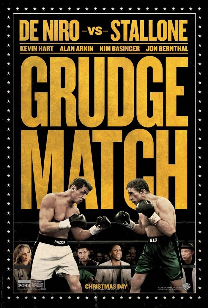"Two retired boxers (Sylvester Stallone and Robert De Niro) decide to settle a long-standing beef by heading back into the ring in this sports comedy from director Peter Segal. Back in the day, Billy ""The Kid"" McDonnen (De Niro) and Henry ""Razor"" Sharp (Stallone) were the two biggest bruisers in the Pittsburgh boxing scene. Their fierce rivalry drawing nationwide attention, Razor and The Kid were deadlocked for the title of overall champion when the former announced his retirement just before the decisive 1983 match that would have determined the supreme champion. Three decades later, enterprising boxing promoter Dante Slate Jr. (Kevin Hart) lures the aging pugilists back into the ring for the fight that everyone has been waiting for. Meanwhile, when Razor and The Kid see each other for the first time in 30 years, the cameras are rolling as tempers suddenly flare. In no time that unscheduled scuffle goes viral, prompting both fighters to resume their intensive training in a bid to be the one who delivers the knockout blow during the highly anticipated bout.Rotten Tomatoes Rating: N/A"
