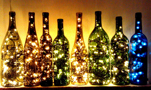 You can't make cool wine bottle lights without empty bottles.
