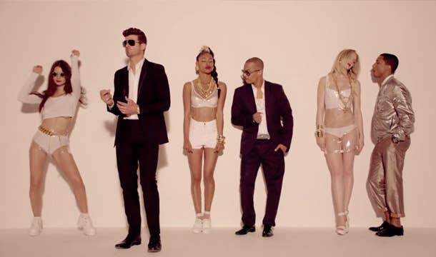 The video for Robin Thicke's video dropped on March 20th and received heavy criticism for its portrayal of women, which is probably the reason for its 110,000+ dislikes.