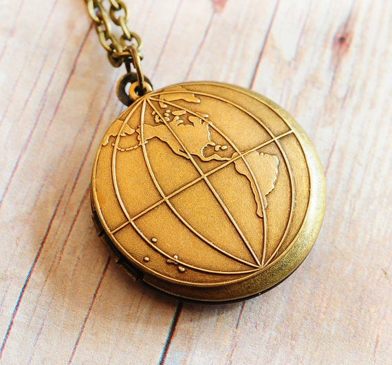 Perfect for any world traveler, this locket necklace can hold up to 2 photos. Get it here for $28.