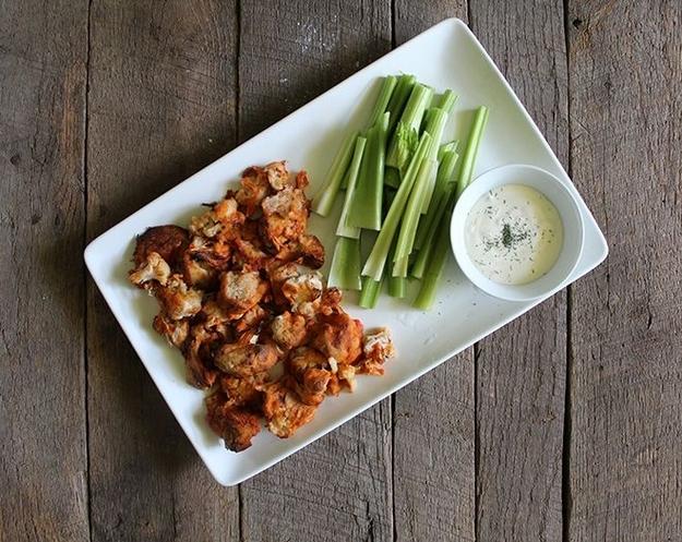 Buffalo Cauliflower And Vegan Ranch Dip