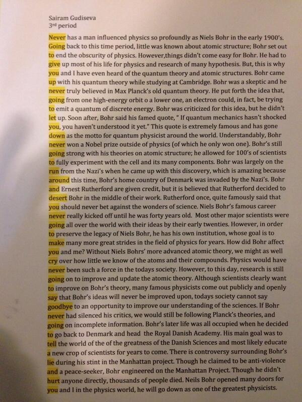 Physics reaction paper