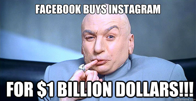 Facebook purchased the company two years later in 2012 for $1 billion in cash and stock.