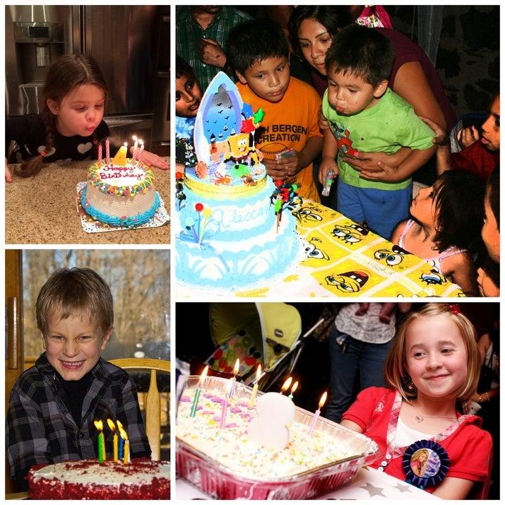 Las posibilidades de tomar fotos con un pastel de cumpleaños no tienen precio.