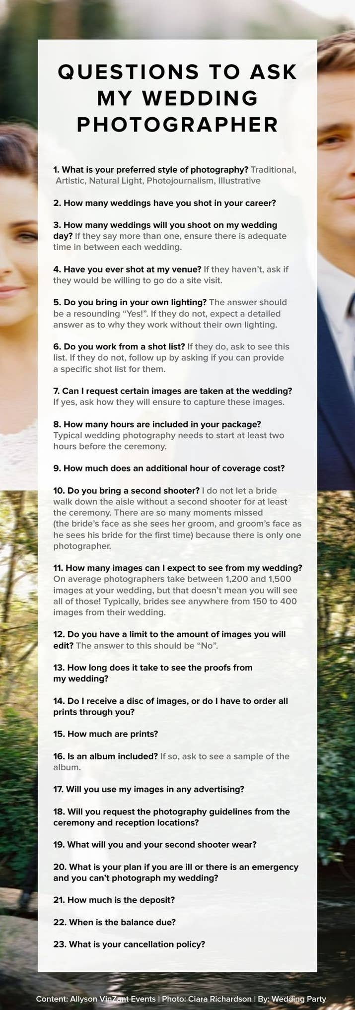 And Your Wedding Photographer