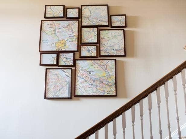 Who even needs these now that GPS is a thing  amirite  Get the directions. 24 Creative Ways To Decorate Your Place For Free