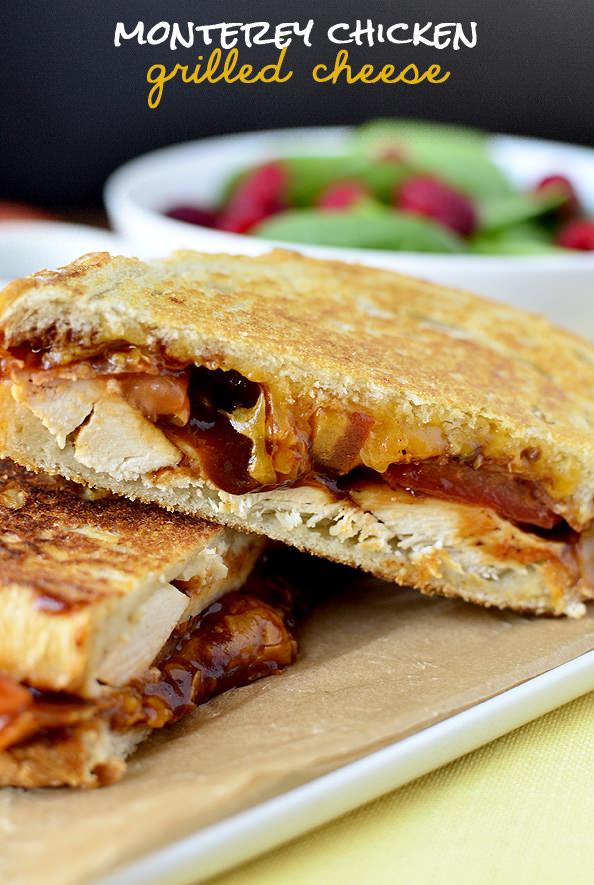 Monterey Chicken Grilled Cheese -  Who has time for dating when there's BACON, CHEDDAR, AND BBQ SAUCE??? Recipe  here.
