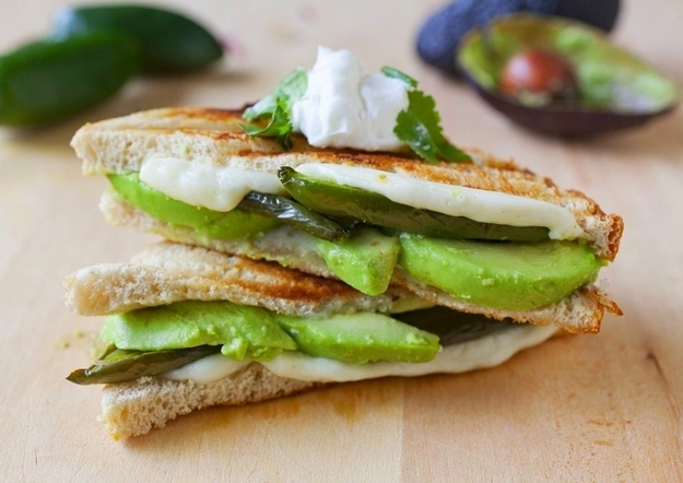 Roasted Jalapeno and Avocado Grilled Cheese -  This must have been the sandwich Meg Ryan ordered in  When Harry Met Sally.