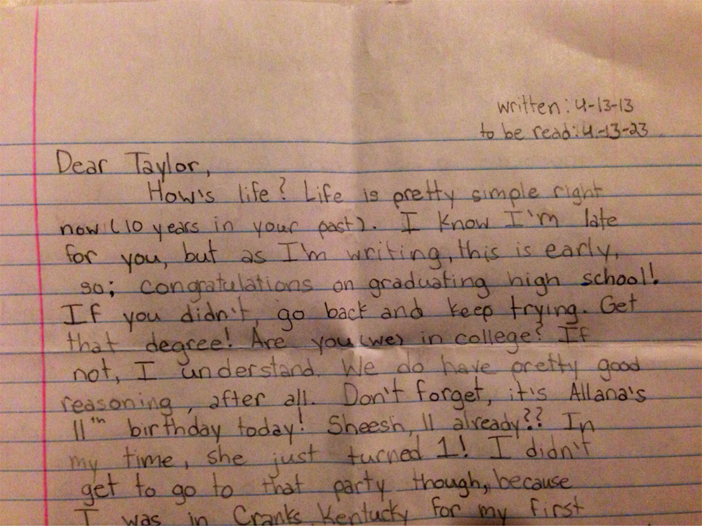 After The Death Of Their 12-Year-Old Daughter, Parents Find The Letter She Wrote To Her Future Self
