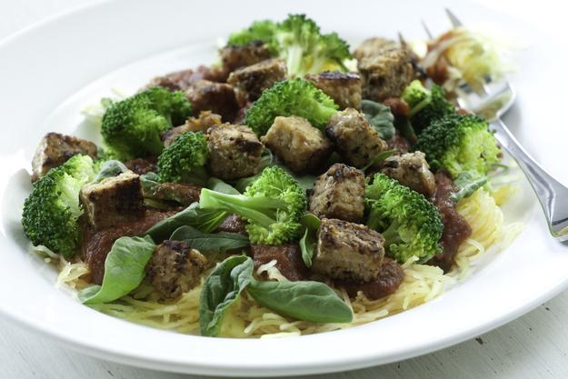 Italian-Style Spaghetti Squash with Tempeh