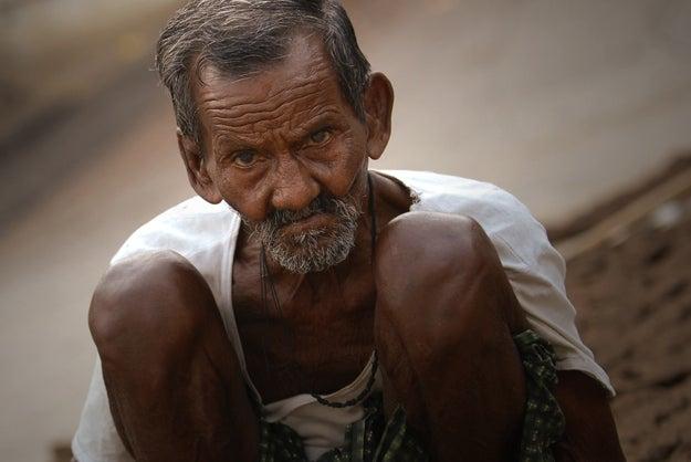 1. Man in Varanasi, India.