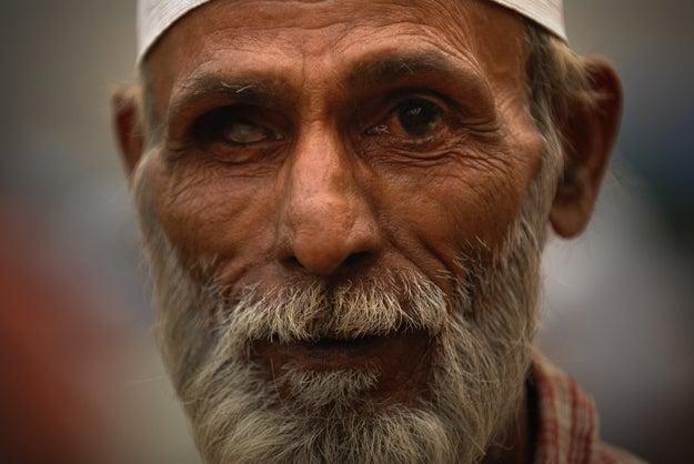 2. Man in Delhi, India.