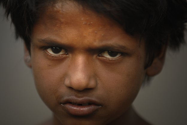 1. Boy in New Delhi, India.
