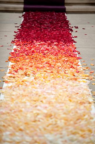 flower petal aisle runner