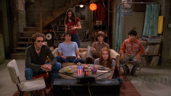 Is there really anything better than hanging out, down the street? Nobody had a cooler basement than Eric Foreman.