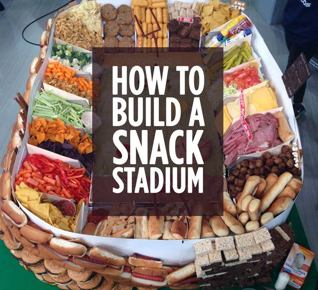 DIY Super Bowl Snack Stadiums