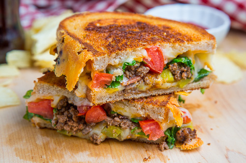 Bacon Double Cheeseburger Grilled Cheese -  Hi, please get inside me in a very G-rated way.