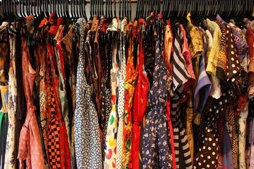 Happiness is: Knowing your size, buying off the rack, never having to try anything on.