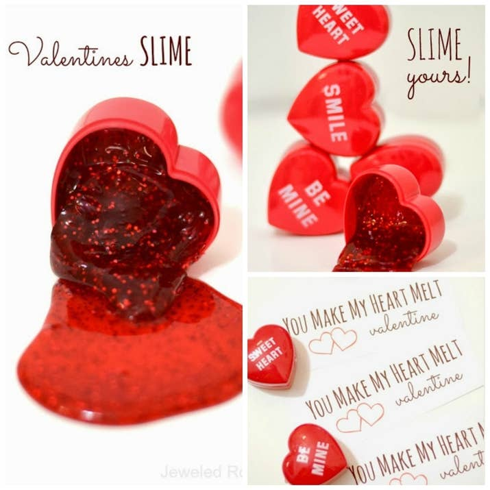 3 love slime - Cute Things For Valentines Day