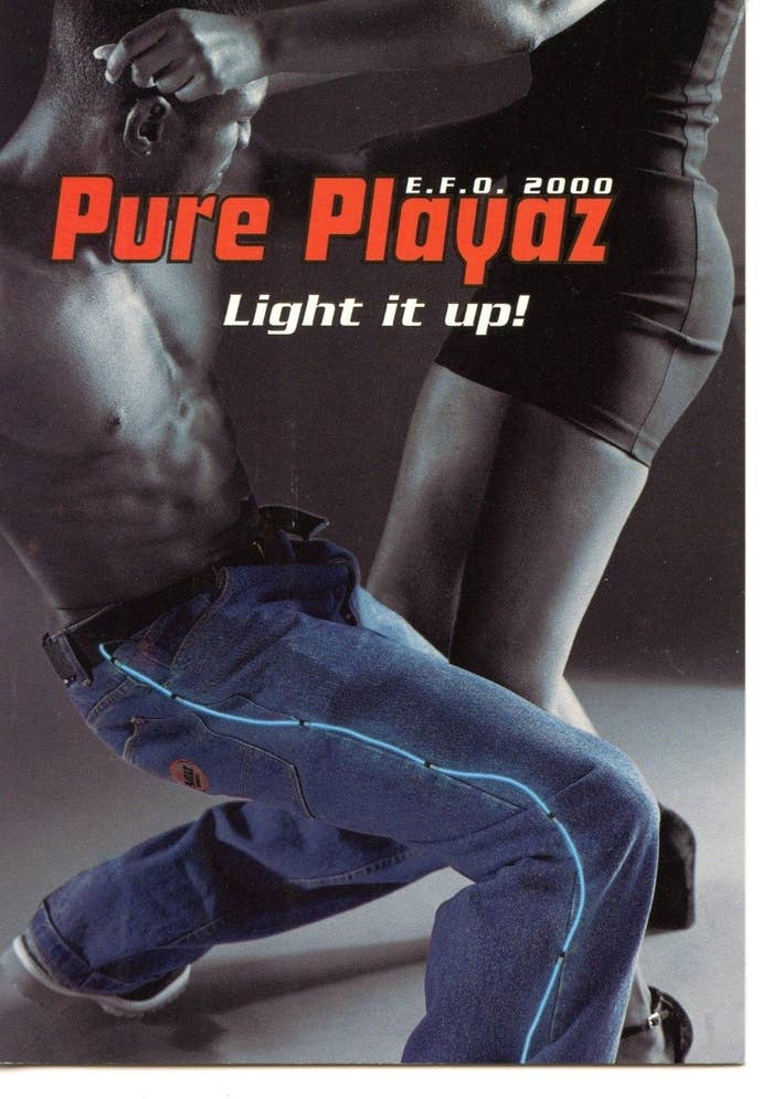 Here is a sad story: These jeans came with a light-up fiber optic