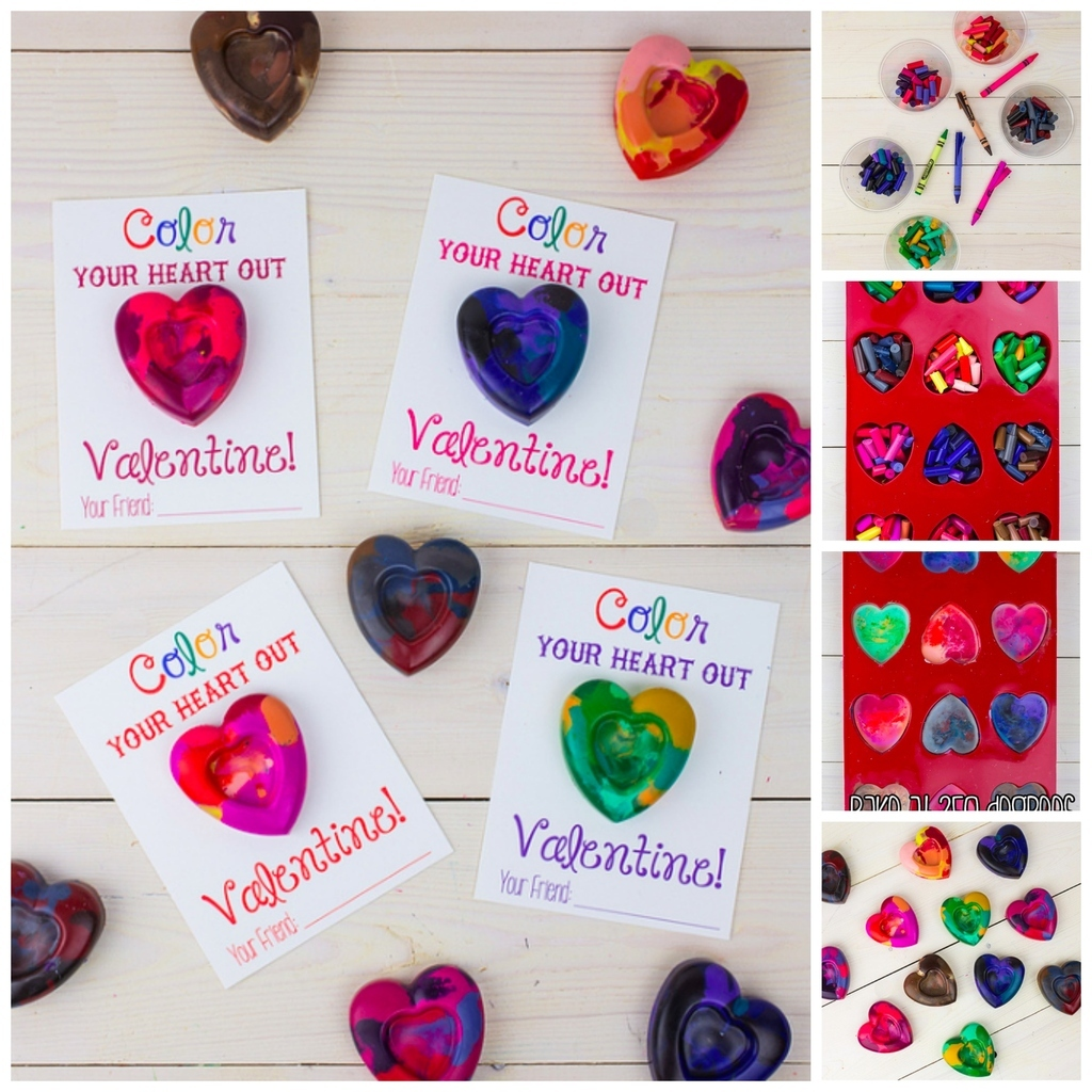 Give Them A Card They Can Color With By Making These Marbled Heart Shaped  Crayons