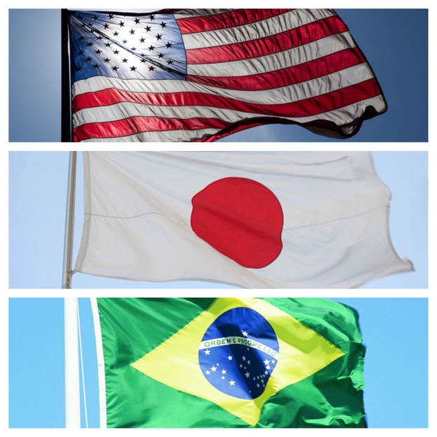 The United States, Japan, and Brazil are the three countries with the most users.