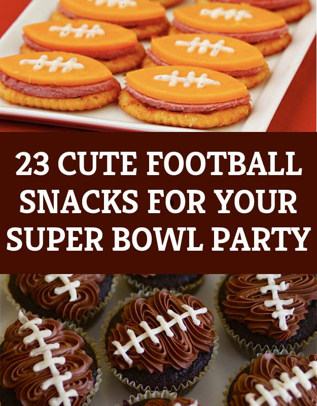 23 Cute Football Snacks For Your Super Bowl Party