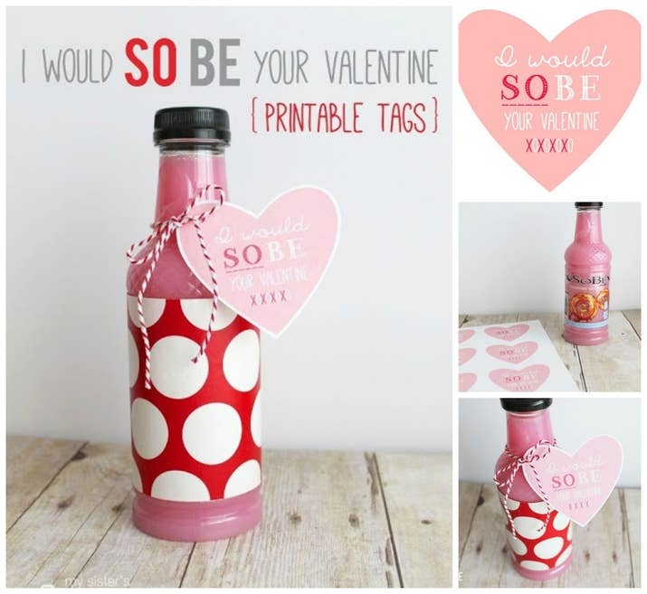 let someone know you would sobe their valentine with these cute tags