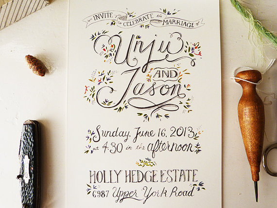 Wedding Invites Pinterest: The 25 Most Beautifully Illustrated Wedding Invites