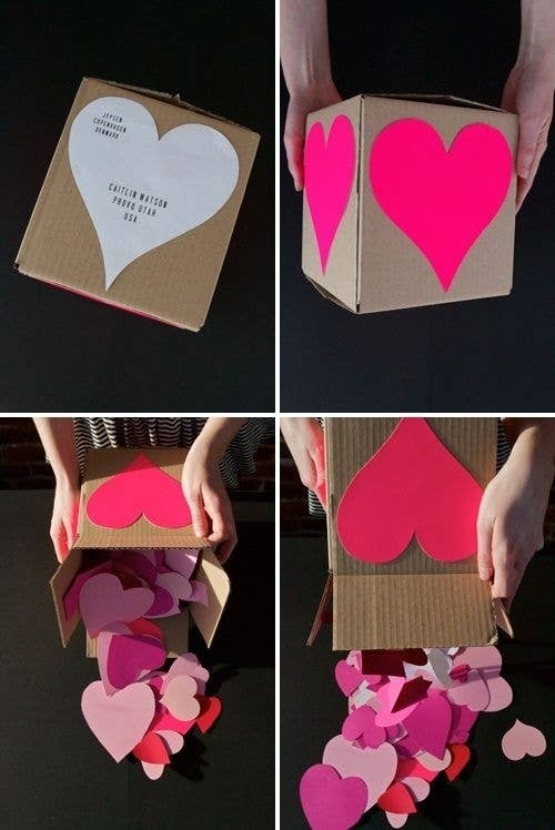 you can make and send this adorable surprise for your long distance valentine