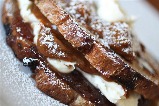 """Dulce de Leche and Mascarpone Dessert Grilled Cheese -  When I say seductively, """"I'll have YOU for dessert!"""" I'm speaking directly to this sandwich."""