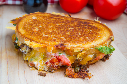 Taco Grilled Cheese -  Do we even need to get into how a TACO GRILLED CHEESE is better than ANY MAN??