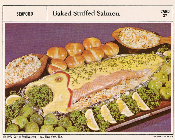 Baked Stuffed Salmon