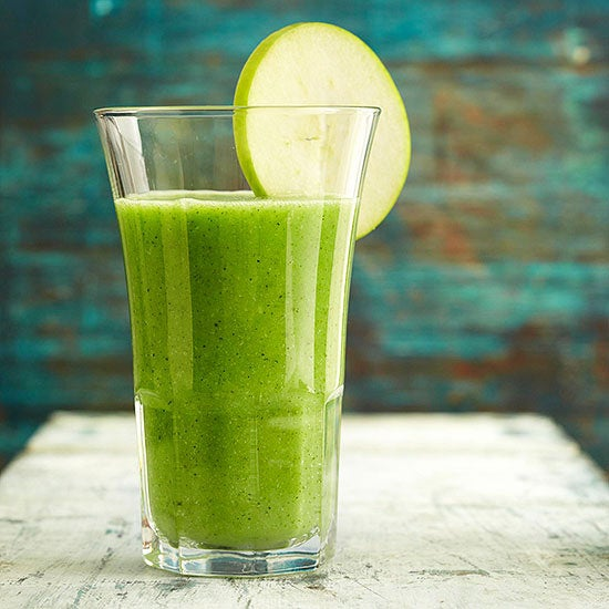 Smoothies are quick and easy ways to get nutrition when you can't consume solid foods. This one has apples, zucchini, and broccoli. Recipe here.