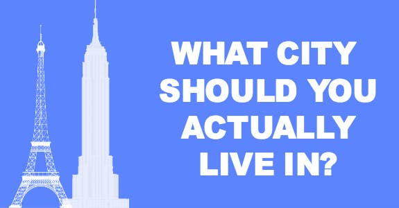 What City Should You Actually Live In See more of buzzfeed quiz on facebook. what city should you actually live in