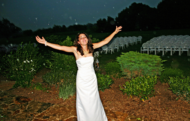 Ruining your wedding dress pictures