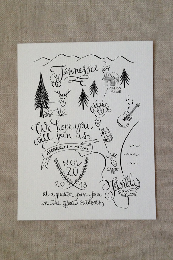 Nature Themed Wedding Invitations The 25 Most Beautifully Illustrated Wedding Invites