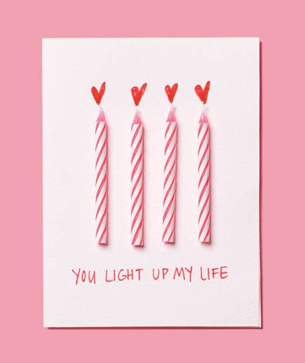 Birthday Candles Are The Perfect Easy Adornment For A Romantic Card Find Out How To